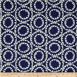 P Kaufmann Indoor/Outdoor Ring A Bell Navy Fabric