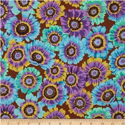 Kaffe Fassett Collective Painted Daisy Turquoise