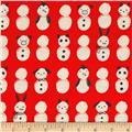 Cotton + Steel Noel Snow Babies Red