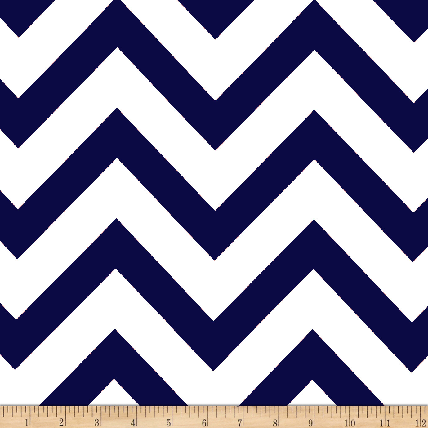 Mi Amor Duchess Satin Chevron Navy/White Fabric