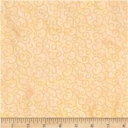 Island Batik Holiday Scroll Metallic Cream