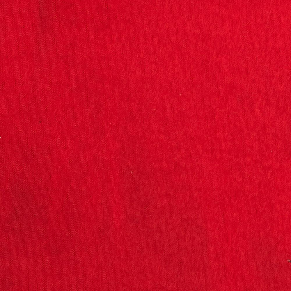 Warm Winter Fleece Solid Red Fabric