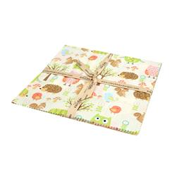 "Riley Blake Owl & Co. 10"" Layer Cake Multi"