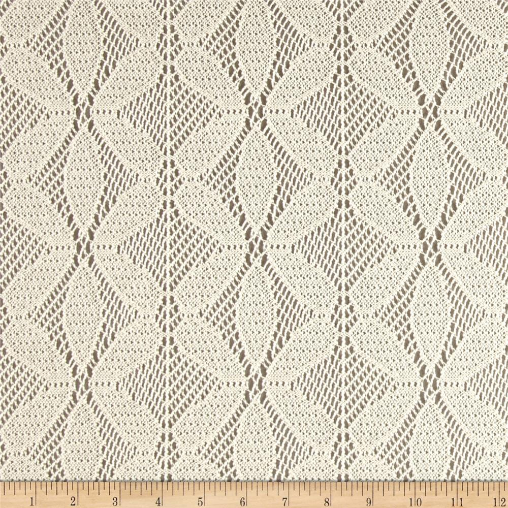 Abstract Crochet Lace Cream