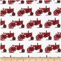 Kaufman Everyday Favorites Tractors Red