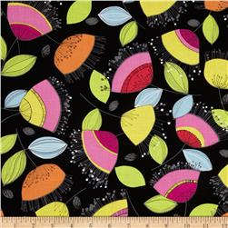 Floralicious Small Allover Black/Multi Fabric