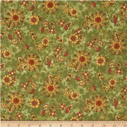 Buggy Barn Flannel Essentials 7 Folksy Floral Sage