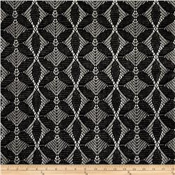 Bohemian Lace Abstract Black