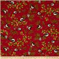 April Cornell Joy Joy Chickadee Red