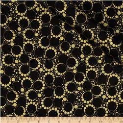 Orbit Metallic Small Circle Dot Gold/Black