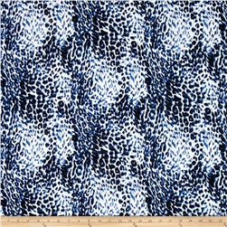 Fashion Printed Denim Cheetah Print Blue/Black