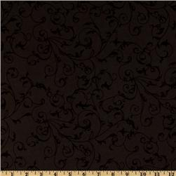 110'' Quilt Backing Filigree Black