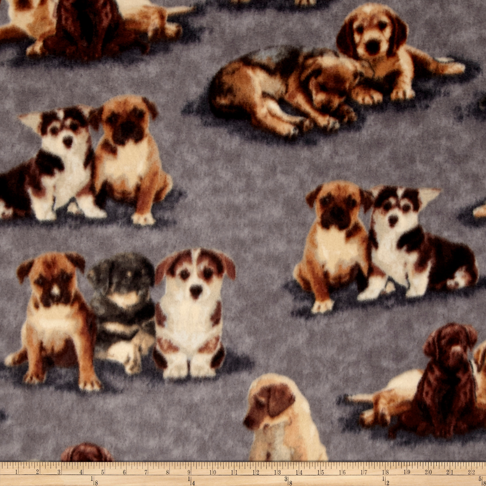 Winter Fleece Puppy Pals Fabric