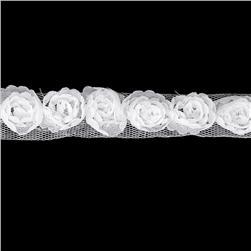 "Riley Blake Sew Together 1"" Small Rosebud Trim White"