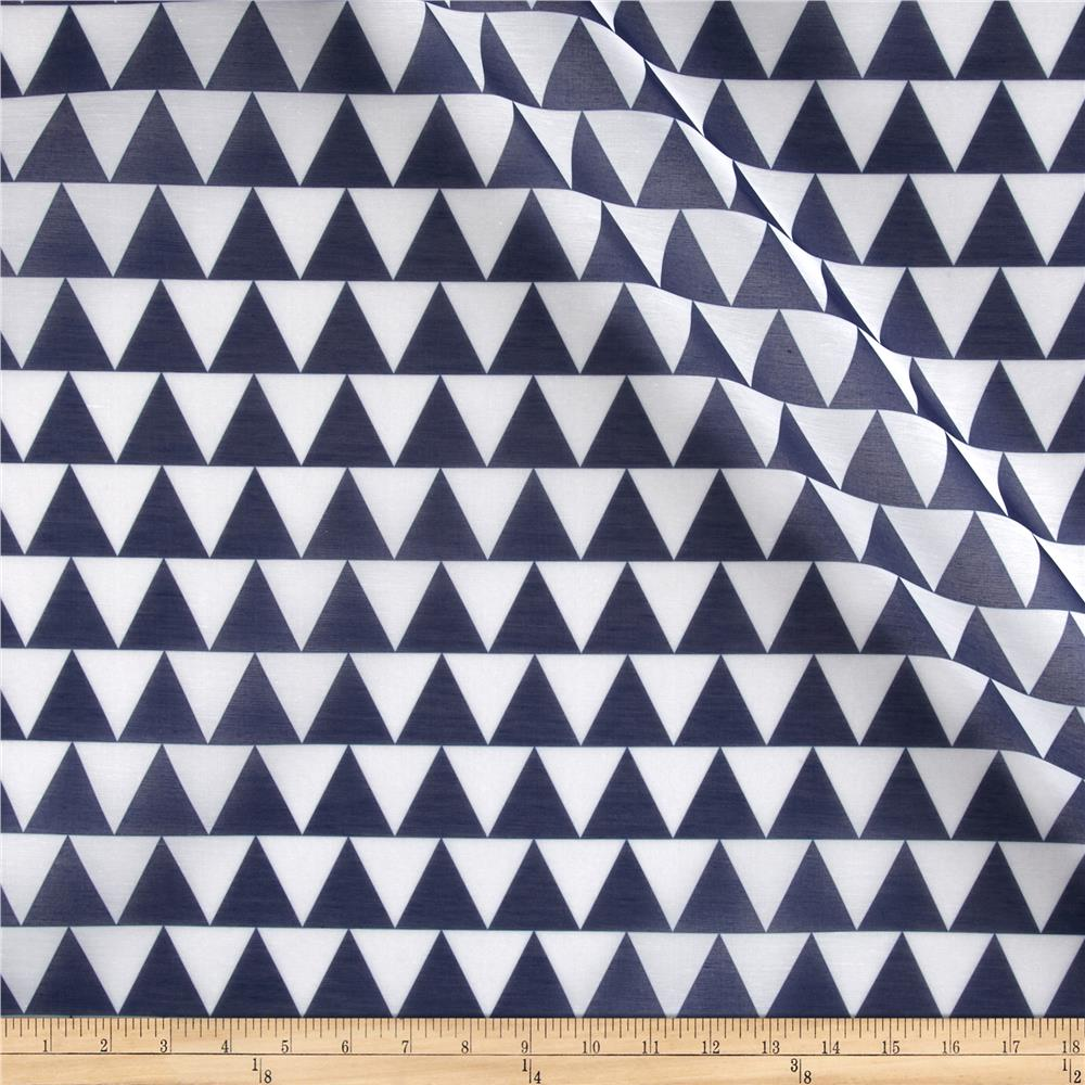 RCA Pax Triangle Sheers Blue Fabric