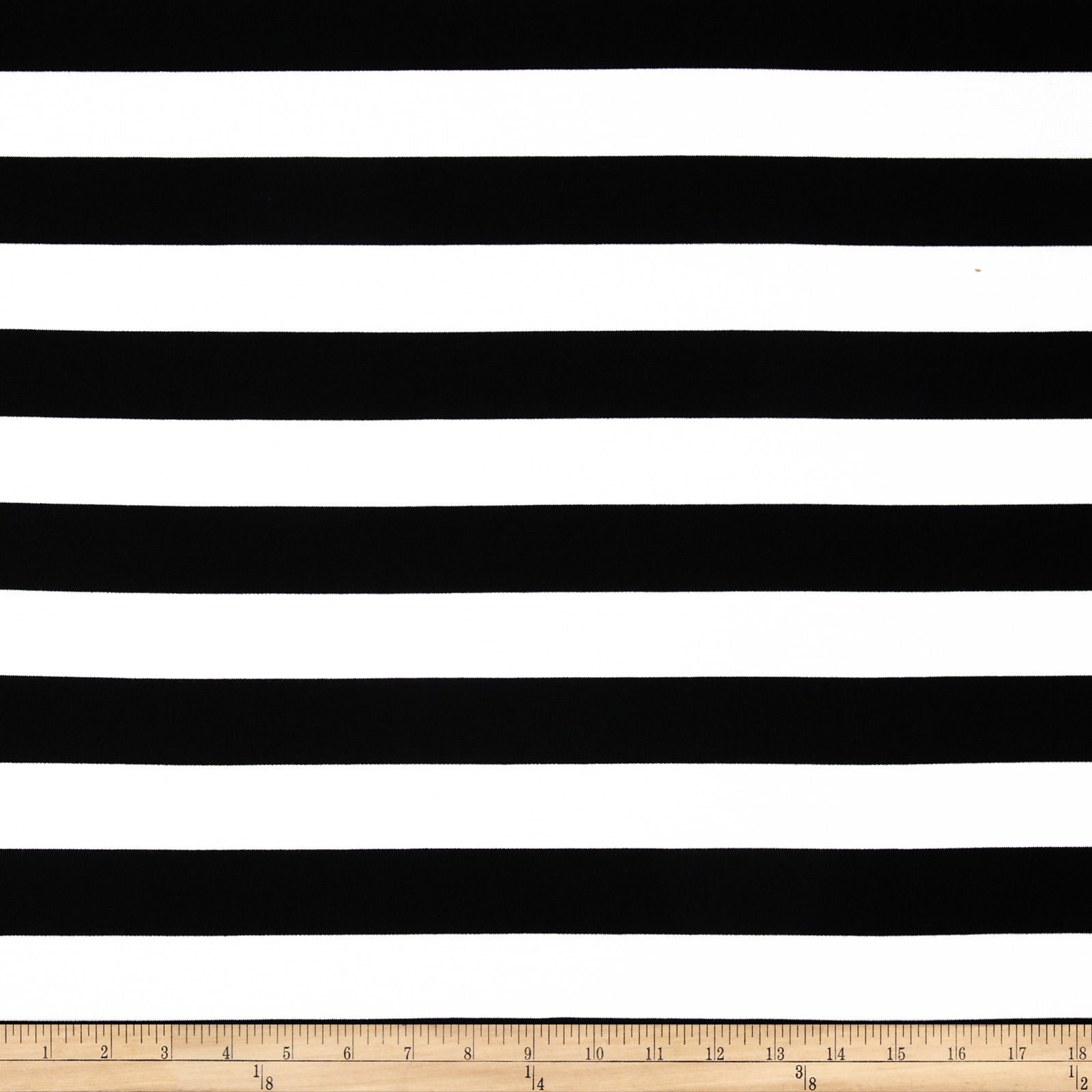 Onyx Ponte Knit Stripes White/Black