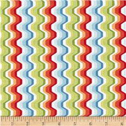 Modern Age Wavy Chevron White/Red