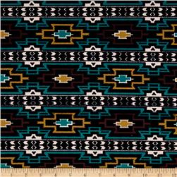 Techno Scuba Knit Aztec Black