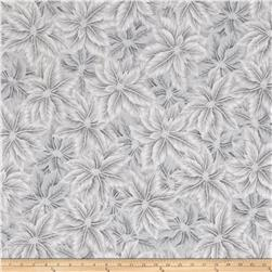 Warm Wishes Metallic Poinsettia Leaves Fog/Silver