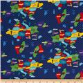 Kokka World Map Countries Royal Blue