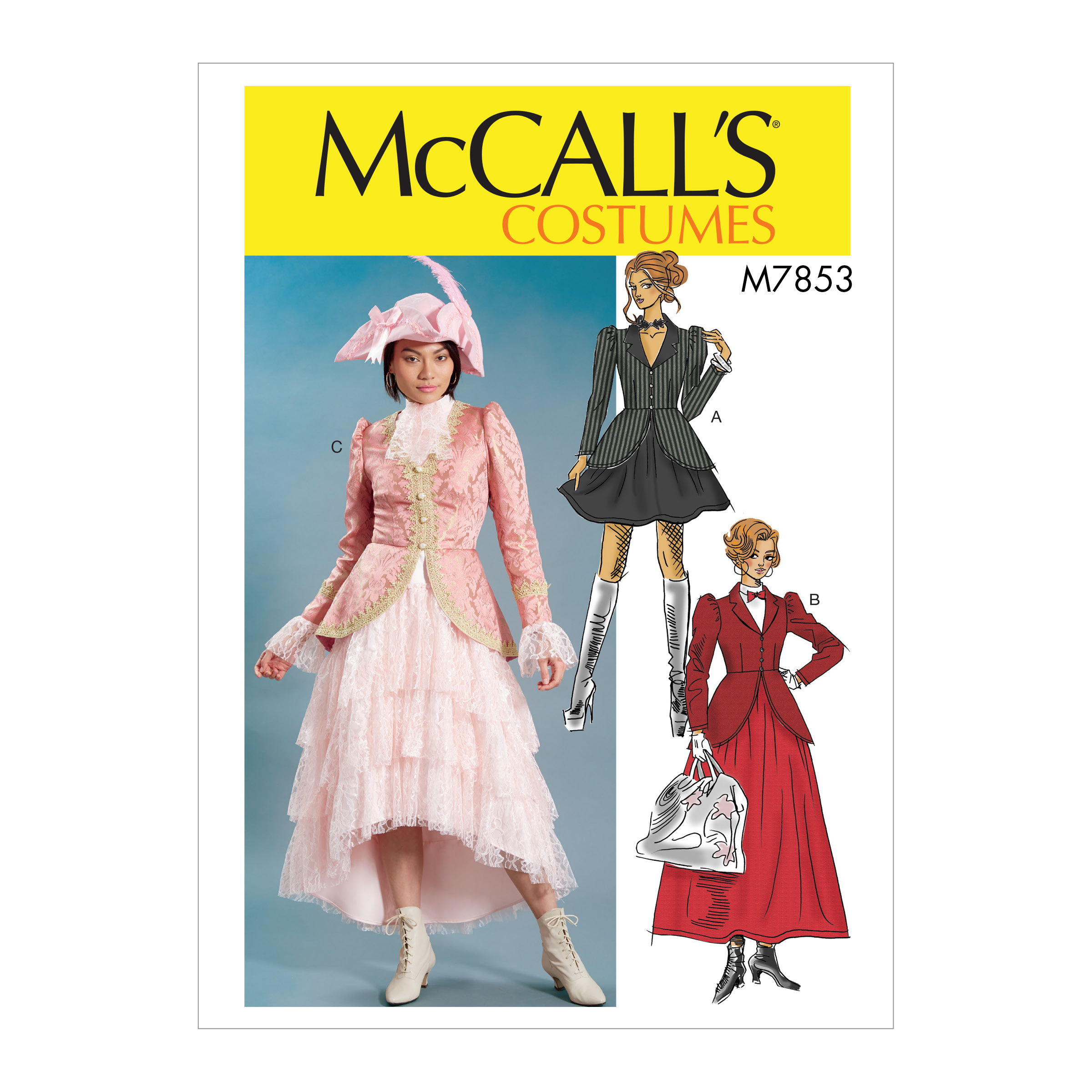 Titanic Fashion – 1st Class Women's Clothing McCalls M7853 Misses Costume Pattern E5 Sizes 14-22 $11.97 AT vintagedancer.com