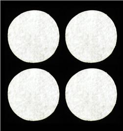 "Craft Felt Circle Pack 1 5/8"" White"