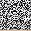 Charmeuse Satin Zebra Black/White