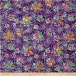 Indian Batik Caledonia Garden Small Floral Purple