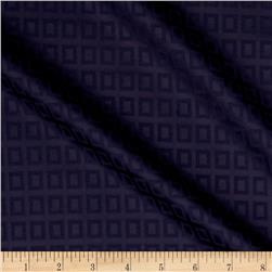 Cotton Lycra Twill Print Squares Purple