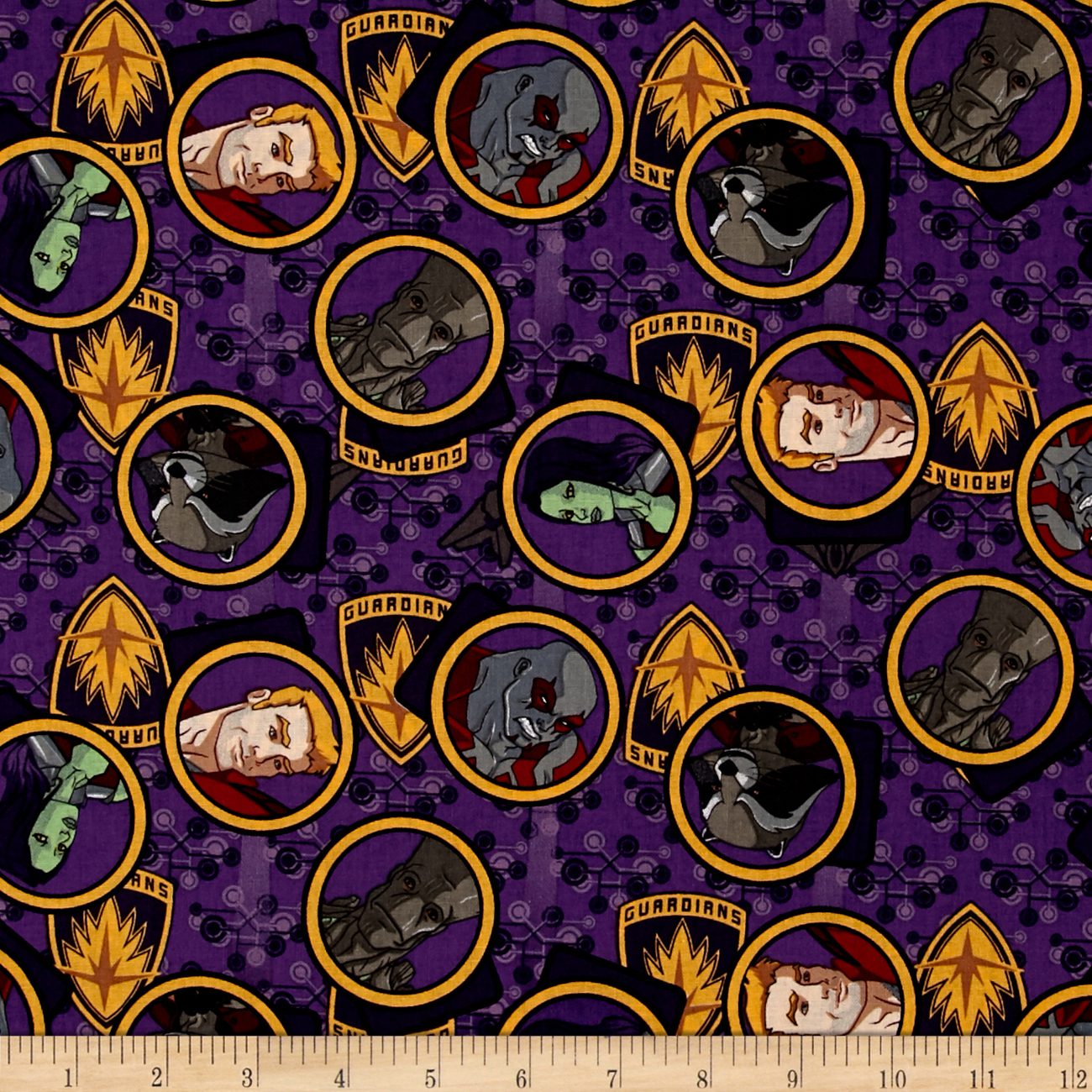 Image of Marvel Guardians of the Galaxy Gang Purple Fabric