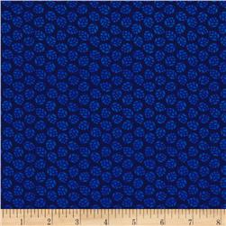 Medallion Muse Small Leaves Navy Blue