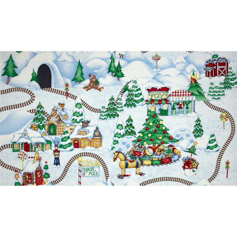 Holiday Express Winter Scene Blue