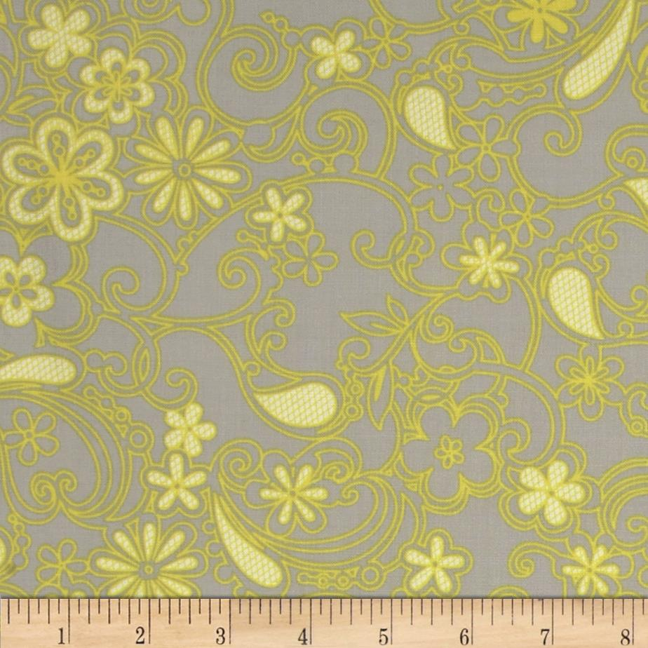 Sweet Harmony Tonal Floral Grey/Yellow