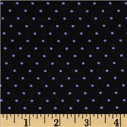 Stretch Venecia ITY Jersey Knit Polka Dots Black/White