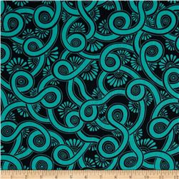 Denyse Schmidt Ansonia Psycho Swirl Mossy Fabric