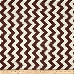 Riley Blake Le Creme Basics Chevron Brown/Cream Fabric