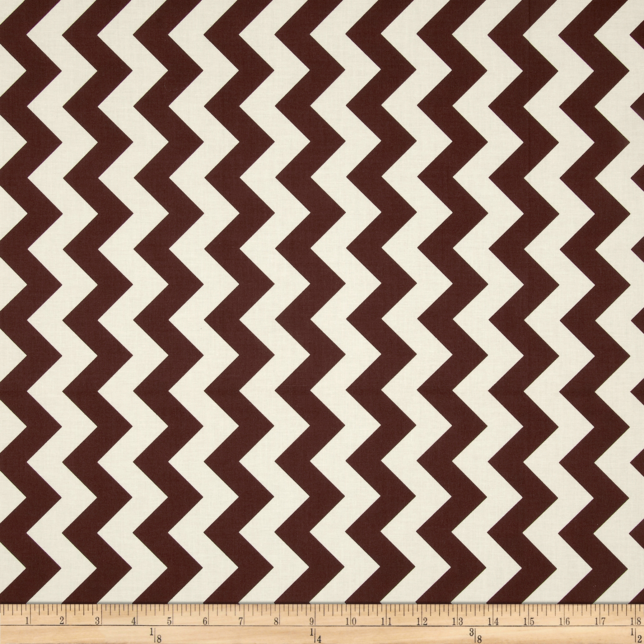 Riley Blake Le Creme Basics Chevron Brown/Cream