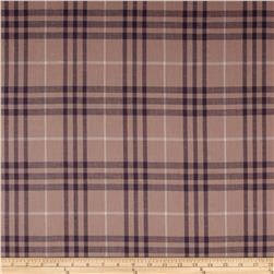 Burberry Designer 3-Ply Cotton Voile Plaid Pink/Blue
