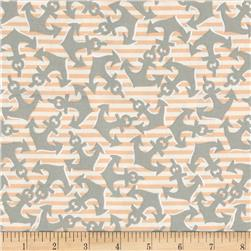 Kanvas Cabana Anchor's Away Stripe Sage/Peach