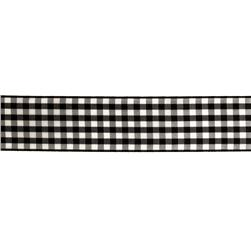 1.5'' Gingham Ribbon Black/White