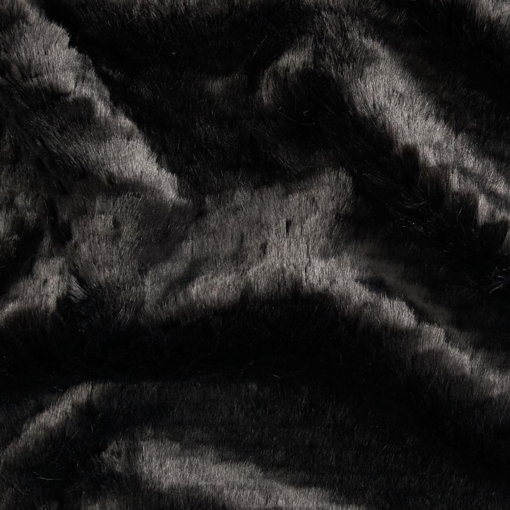 Tissavel Luxury Faux Sante Fe Fur Ripple Black