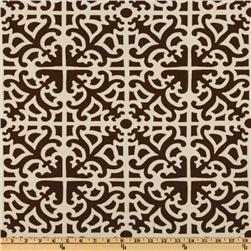 Waverly Sun N Shade Parterre Damask Chestnut