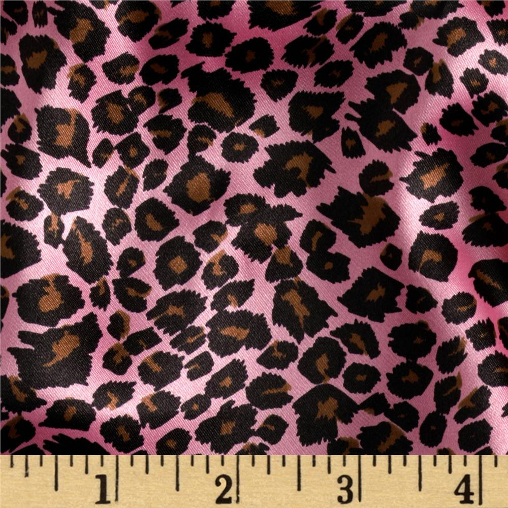 Charmeuse Satin Cheetah Hot Pink/Brown