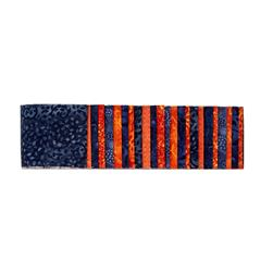 "#1 Fan Essential Gems 2.5"" Strips Orange/Navy"