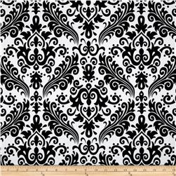 Riley Blake Large Damask White/Black