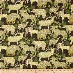 Alpine Woods Alpine Silhouettes Forest/Tan Fabric