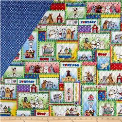 Love is a Four Legged Word Double Face Quilted Multi