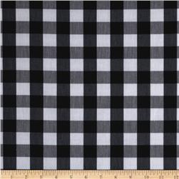 Stretch Yarn Dyed Shirting Medium Check White/Black
