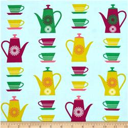 Happy Home Tea Cups & Pots Meadow
