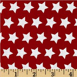 Riley Blake Star Red Fabric